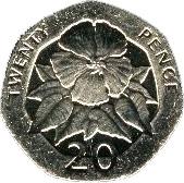 20 Pence - Elizabeth II (3rd portrait) – reverse