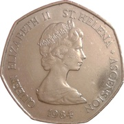 50 Pence - Elizabeth II (2nd portrait; large type) – obverse