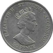 50 Pence - Elizabeth II (Royal Wedding) – obverse
