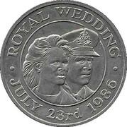 50 Pence - Elizabeth II (Royal Wedding) – reverse