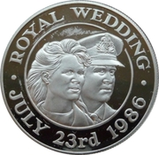 50 Pence - Elizabeth II (Royal Wedding; Silver Proof Issue) – reverse