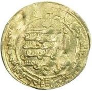 Dinar - temp. Muflih al-Yusufi (citing the caliph al-Muqtadir and his heir-apparent Abu'l-'Abbas) – reverse