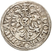 3 Kreuzer - Johann and Adolph – reverse
