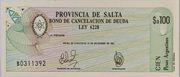 100 Pesos Argentinos – obverse