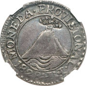 2 Reales (Provisional coinage) – obverse