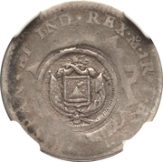 1 Real (Type V Countermark) – obverse