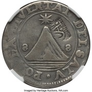 2 Reales (SAP - Counter-marked coinage) – obverse