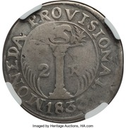 2 Reales (SAP - Counter-marked coinage) – reverse