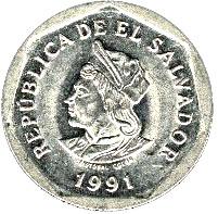 1 Colon 1985  From El Salvador billete collectible banknote Salvadorean Coin