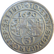 3 Kreuzer - Johann Ernst von Thun -  obverse