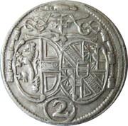 2 Kreuzer - Johann Ernst von Thun -  obverse