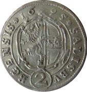 2 Kreuzer - Johann Ernst von Thun -  reverse