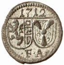 1 Pfennig - Franz Anton von Harrach – obverse