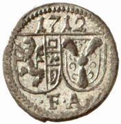 1 Pfennig - Franz Anton von Harrach -  obverse