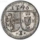 1 Pfennig - Jakob Ernst von Liechtenstein – obverse