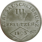 3 Kreutzer - Ferdinand III of Austria - Tuscany -  reverse