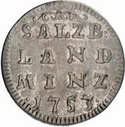 4 Kreuzer - Sigismund von Schrattenbach -  reverse