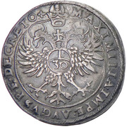 ½ Guldentaler - 30 Kreuzer Johann Jakob Khuen von Belasi (Maximilian) -  reverse