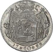 20 Kreuzer - Hieronymus von Colloredo -  reverse