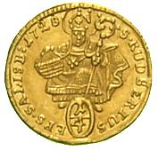 ¼ Ducat - Leopold Anton von Firmian – reverse