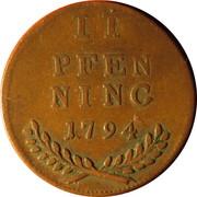 2 Pfennig - Hieronymus von Colloredo -  reverse