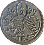 ½ Kreuzer - Johann Ernst von Thun -  obverse