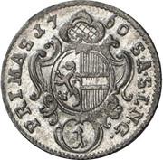 1 Kreuzer - Sigismund von Schrattenbach -  reverse