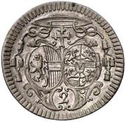 2 Kreuzer - Jakob Ernst von Liechtenstein -  obverse