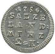 2 Kreuzer - Sigismund III von Schrattenbach -  reverse