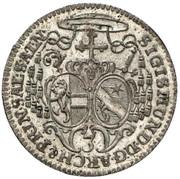 3 Kreuzer - Sigismund von Schrattenbach -  obverse