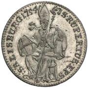 3 Kreuzer - Sigismund von Schrattenbach -  reverse
