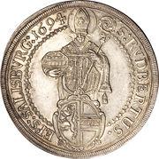 1 Thaler - Johann Ernst von Thun -  reverse