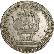 10 Kreuzer - Sigismund von Schrattenbach -  reverse
