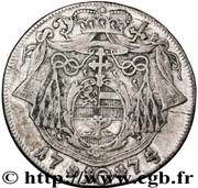 10 Kreuzer - Hieronymus von Colloredo -  reverse