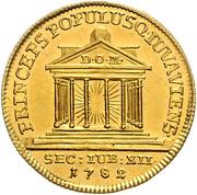 1 Ducat - Hiéronymus von Colloredo (12th Jubileum) – reverse
