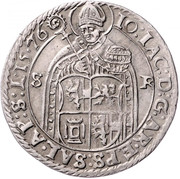½ Guldentaler - 30 Kreuzer - Johann Jakob Khuen von Belasi (Rudolf) -  obverse