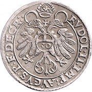 ½ Guldentaler - 30 Kreuzer - Johann Jakob Khuen von Belasi (Rudolf) -  reverse