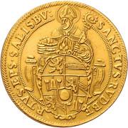 5 ducats - Wolf Dietrich von Raitenau -  reverse