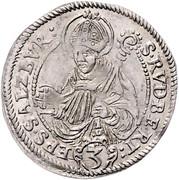 3 Kreuzer - Wolf Dietrich von Raitenau -  reverse