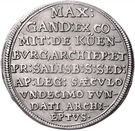 15 Kreuzer - Max Gandolf von Kuenburg – reverse