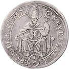 ⅙ Thaler - Max Gandolf von Kuenburg – reverse