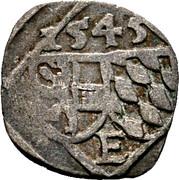 1 Pfennig - Ernst von Bayern -  obverse