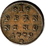1 Pfenning - Hieronymus von Colloredo – reverse