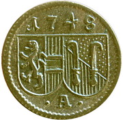 1 Pfennig - Andreas Jakob von Dietrichstein -  obverse