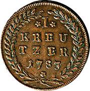 1 Kreutzer - Hieronymus von Colloredo -  reverse