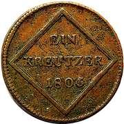 1 Kreutzer - Ferdinand III of Austria - Tuscany -  reverse