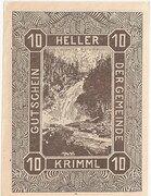 10 Heller (Krimml) – reverse