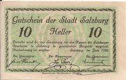 10 Heller (Salzburg) – obverse