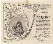 10 Heller (Salzburg - Landesverband der Kriegsinvaliden) – reverse