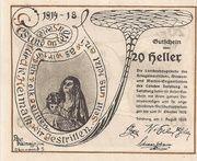 20 Heller (Salzburg - Landesverband der Kriegsinvaliden) – reverse